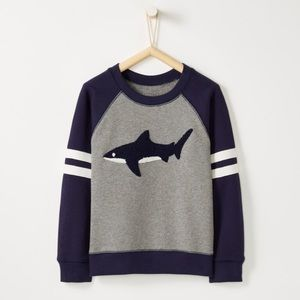Hanna Andersson Shirts & Tops - NWT Hanna Andersson Colorblock Shark Sweatshirt